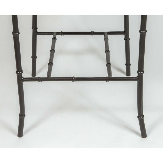 Metal Faux Bamboo Chairs - Pair - Image 6 of 7