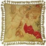 Image of Dancing Cherubs Aubusson Pillow
