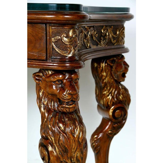 Image of Medieval English Carved Wood Desk