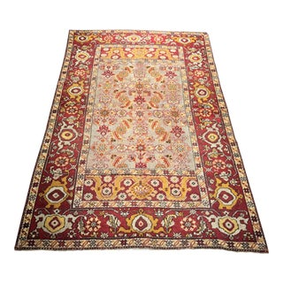 "Bellwether Rugs Small Distressed Vintage Turkish Oushak - 4'2""x6'6"""