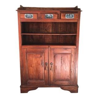 Antiqued Wood Cabinet