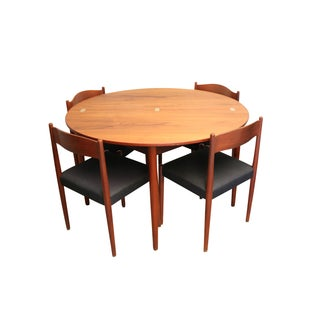 Mid-Century Teak Folding Dining Set