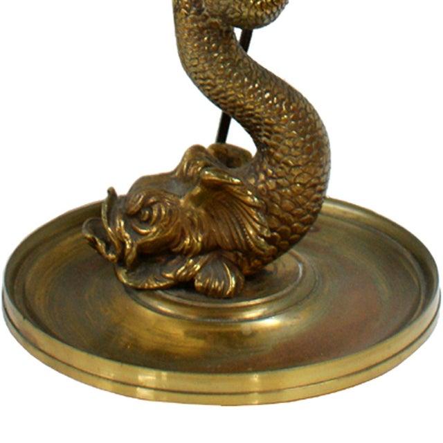 vintage brass koi fish table or desk lamp chairish