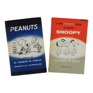 1950's Peanuts and Snoopy First Edition Books - Pair