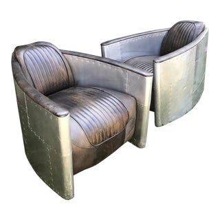 Aviator Chairs by Restoration Hardware - A Pair