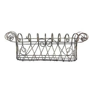 Vintage Hanging Wire Basket