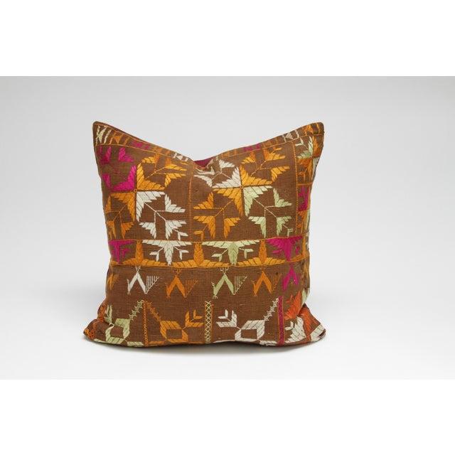 Tribal Bagh Phulkari Pillow - Image 3 of 3