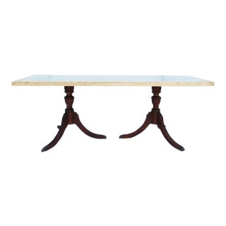 Salvaged Wood Twin Pedestal Dining Table