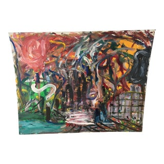 Contemporary Abstract Cityscape on Canvas