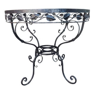 Traditional Vintage Iron Round Dining Table