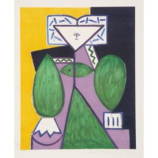 """Pablo Picasso """"Femme en Vert Et Mauve"""" Lithograph"""