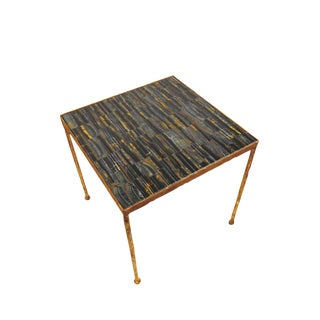 Blue Tigers Eye Toby Side Table