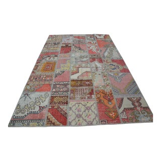 Anatolian Handwoven Patchwork Rug - 6′6″ × 10′