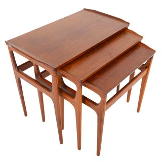 Danish Modern Brazilian Rosewood Nesting Tables