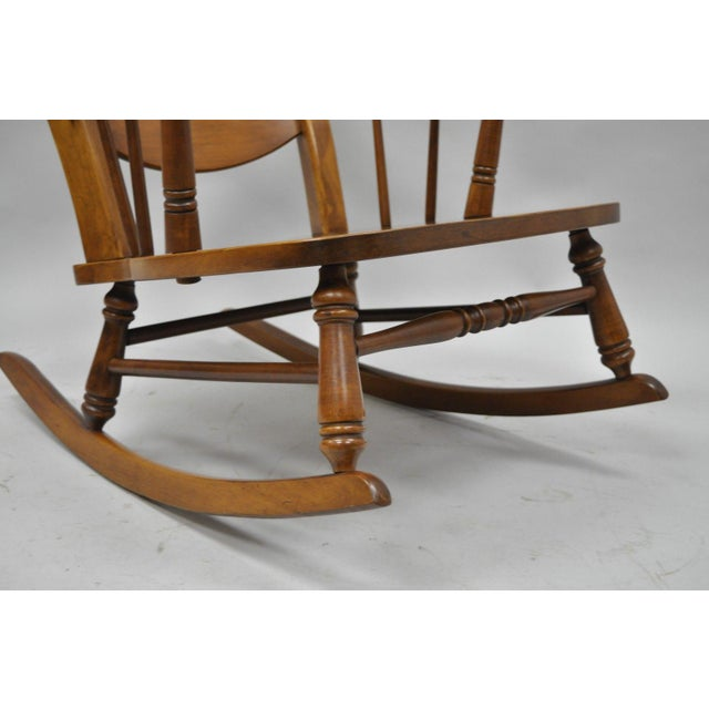 Mid-Century Tell City Maple Sculptural Ladder Back Rocking Chair - Image 6 of 11