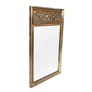 Studio Del Campo Grape Harvest' Frieze Enamel Silver Frame Mirror