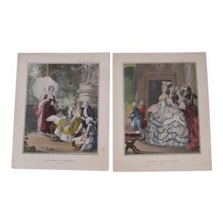 Vintage French Prints - A Pair