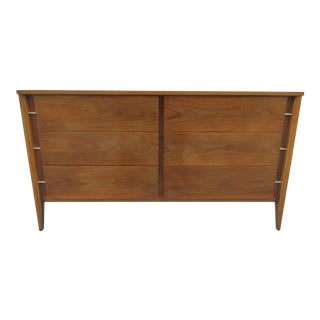 Mid-Century Modern Six Drawer Long Dresser