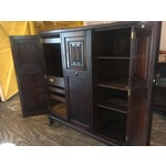 Image of Antique English Solid Oak Linen Press or Armoire