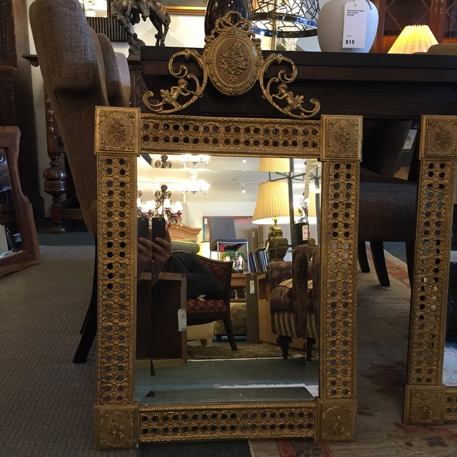Gilded French Iron Mirrors - A Pair - Image 2 of 10
