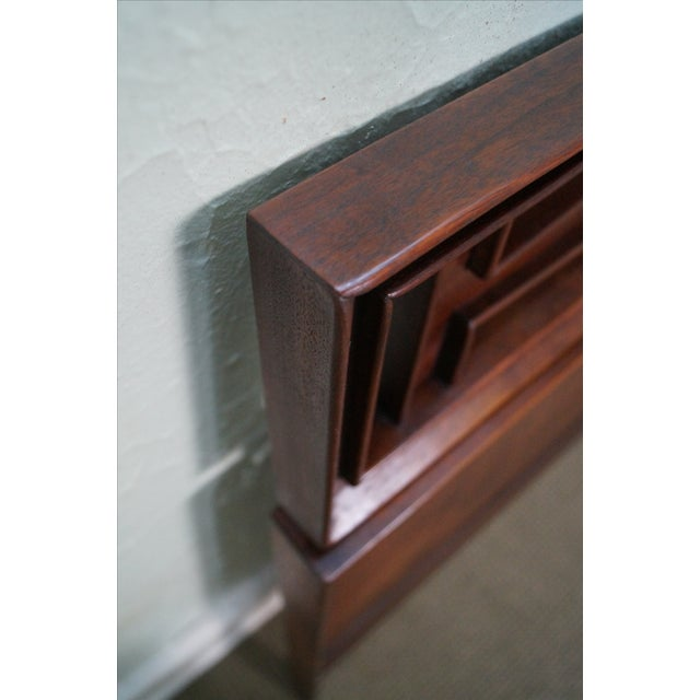 Mid Century Modern Walnut King Size Headboard - Image 9 of 10