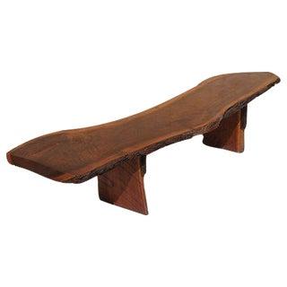 Freeform Wood Slab Cocktail Table