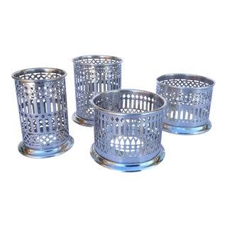 Vintage Silver Plate Celtic Pierced Syphons - Set of 4