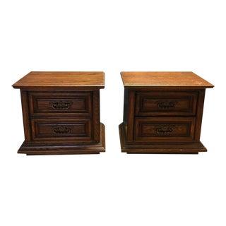 Thomasville Mid-Century Wooden Nightstands- A Pair