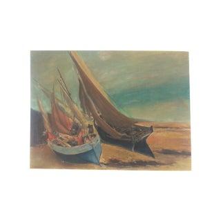 Vintage English Sailboat Scene