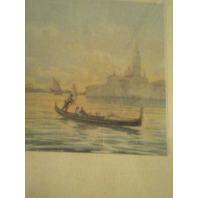 1920s Framed Colored Venice Print - Image 5 of 8