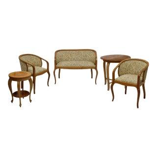 Art Nouveau Parlor Furniture - Set of 5