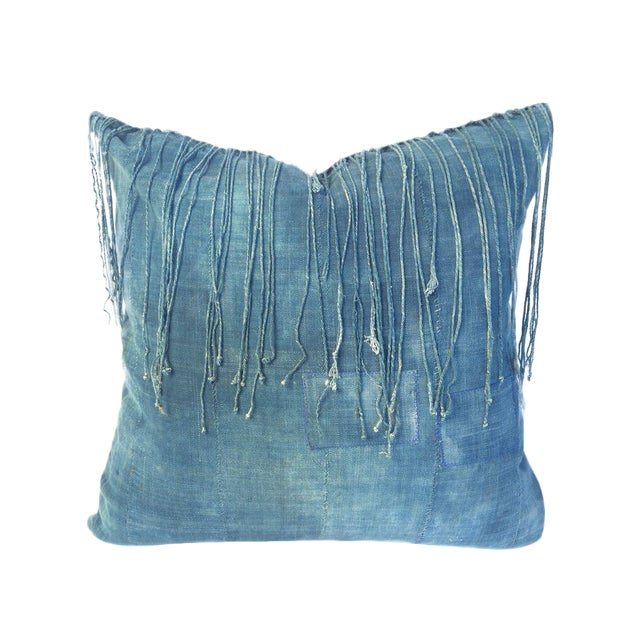 Vintage African Indigo Pillow - Image 1 of 3