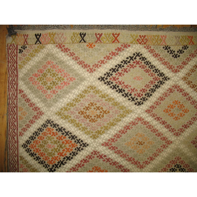 Image of Vintage Turkish Jajim Rug - 4'2'' X 3'1''
