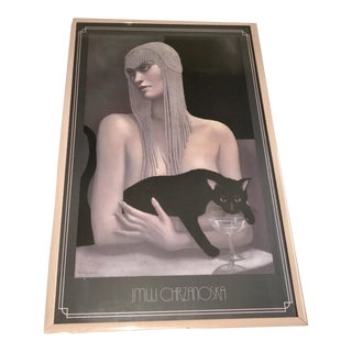 "Framed Lithograph ""Solitaire"" by Jmw Chrzanozka"