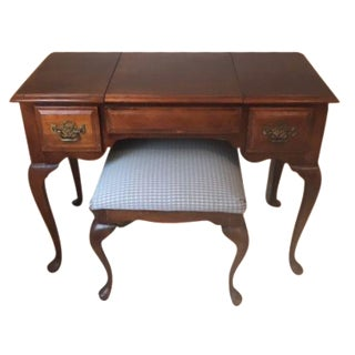 Stanley Furniture Queen Anne Vanity Table & Stool