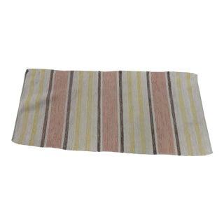 "Swedish Vintage Handwoven Rag Rug -- 1'11"" x 5'9"""