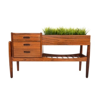 Arne Wahl Iversen Rosewood Entry Chest With Planter