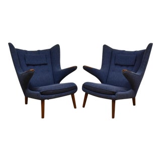 Original Hans J. Wegner Papa Bear Chairs - A Pair