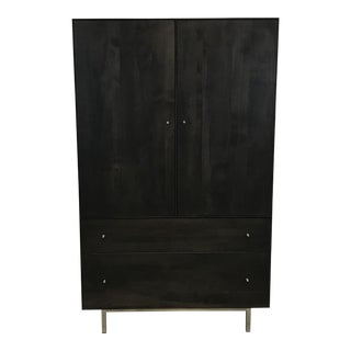 Delano Walnut Armoire with Charcoal Stain