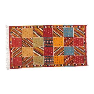 Hand Woven Moroccan Berber Rug - 3′ × 7′