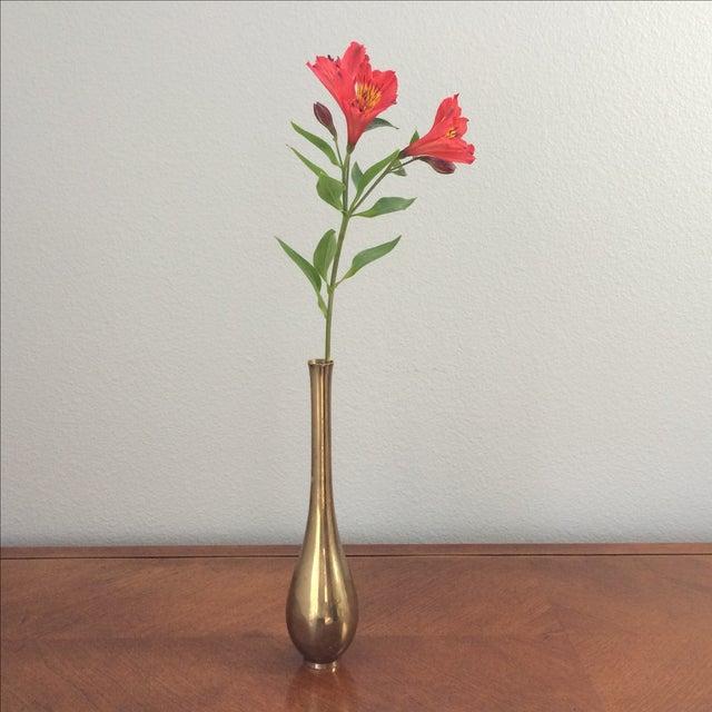 Vintage Modern Brass Vase - Image 6 of 6