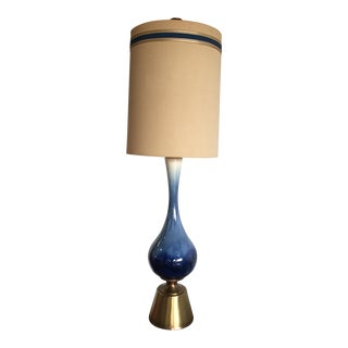 Monumental (5 Ft) Mid-Century Ceramic Table Lamp - Double Shade