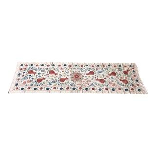Vintage Pure Silk Suzani Table Runner
