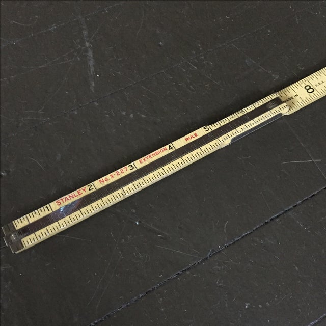 Stanley Extension Wood & Brass Ruler - Image 6 of 9