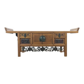 Chinoiserie Carved Wood Altar Table