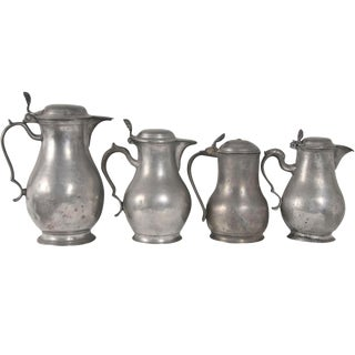 Pewter Grouping of Pitchers - Set of 4