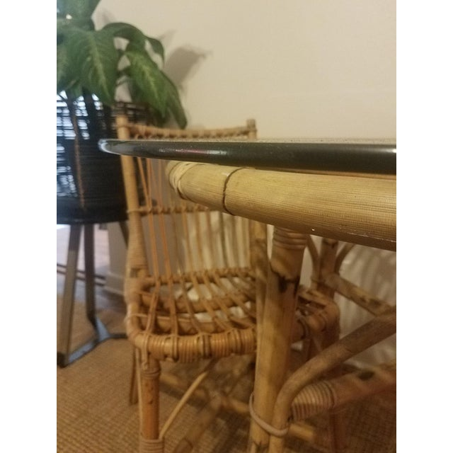 Vintage Franco Albini Rattan Table & Chairs - Image 6 of 11