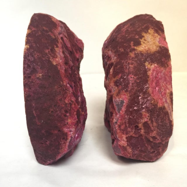 Image of Fuchsia Geode Bookends - A Pair