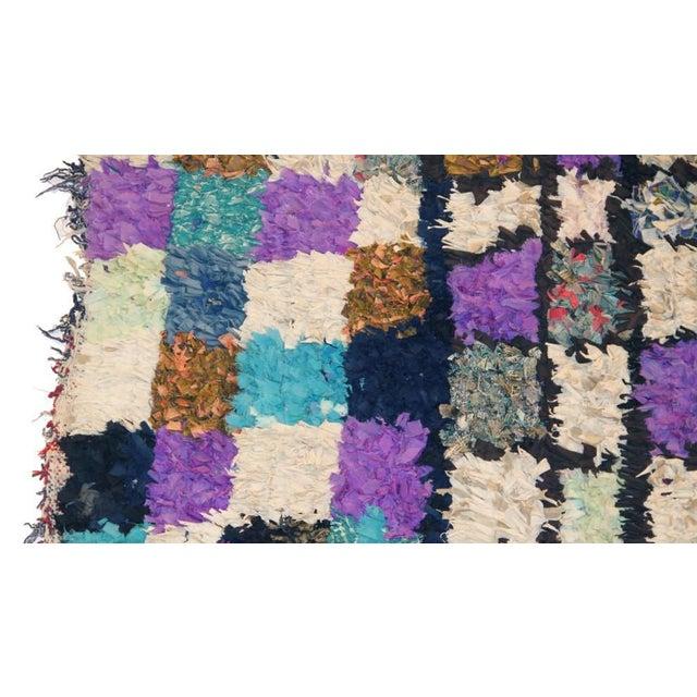 "Vintage Boucherouite Moroccan Carpet - 6' X 4'8"" - Image 2 of 3"