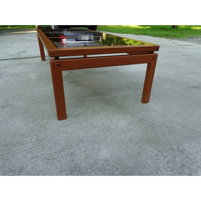 Teak danish modern floating coffee table chairish Modern teak coffee table